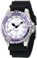 Momentum Women's 1M-DV11WP1B M1 Twist Purple Bezel Black Hyper Natural Rubber Watch