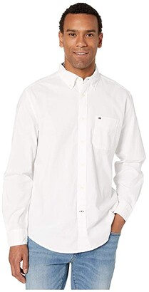 Tommy Hilfiger Capote Button Down Shirt Classic Fit (Bright White) Men's Clothing