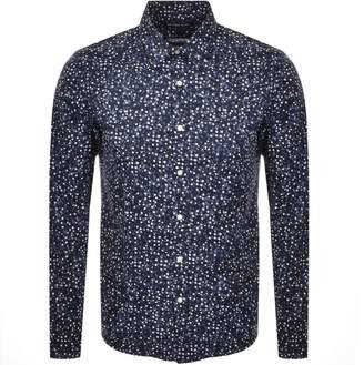 Michael Kors Long Sleeved Slim Fit Shirt Navy