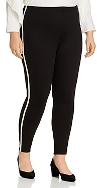 Lysse Plus Jigsaw Stripe Trim Leggings