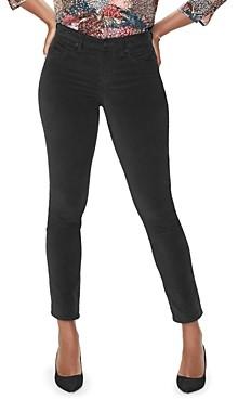 NYDJ Sheri Slim Velvet Jeans in Black
