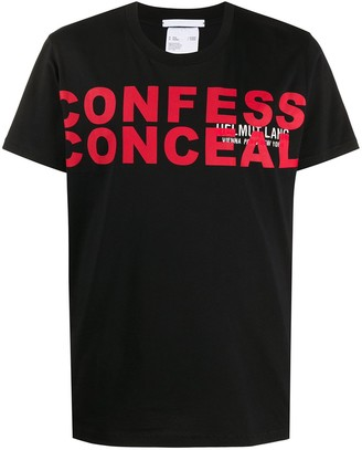 Helmut Lang confess conceal short sleeve T-shirt