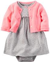 Carter's 2-Piece Babysoft Bodysuit Dress & Cardigan Set