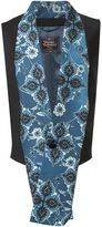 Vivienne Westwood Man long printed shawl collared waistcoat