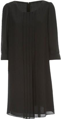 Emporio Armani Pleated Dress 3/4s Crepe Lurex