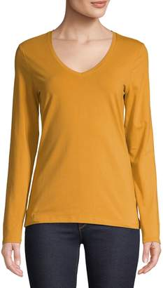 Lord & Taylor Long Sleeve Essential Cotton T-Shirt