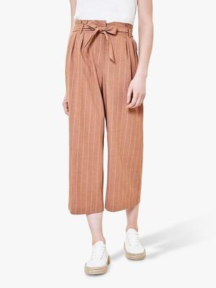 Oasis Stripe Crop Trousers, Multi