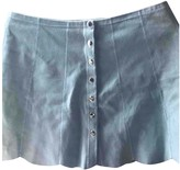 Reformation Blue Suede Skirts