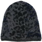 John Varvatos leopard jacquard knit beanie