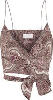 Zimmermann Epoque paisley-print cotton-voile wrap top