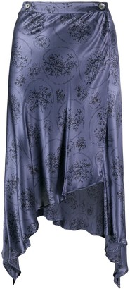 Romeo Gigli Pre-Owned 1990s Floral Handkerchief Skirt