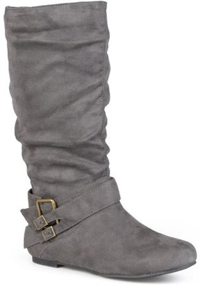 Brinley Co. Slouchy Side Accent Buckle Boots (Women's)