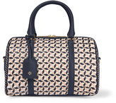 Tory Burch Robinson small woven leather tote