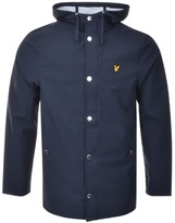Lyle & Scott Full Zip Raincoat Jacket Navy