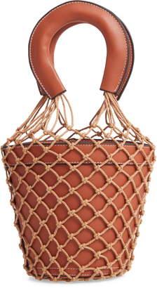Knotty Net Faux Leather Bucket Bag