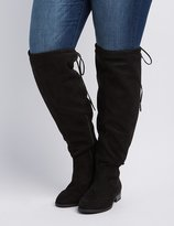 Charlotte Russe Wide Width Drawstring Over-The-Knee Boot