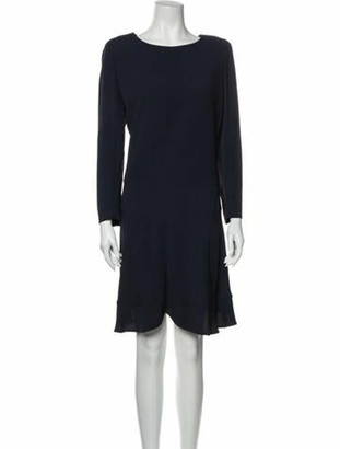 Chloé Crew Neck Knee-Length Dress Blue