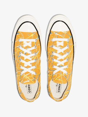 Converse Yellow Chuck 70 Splatter Print Low Top Sneakers