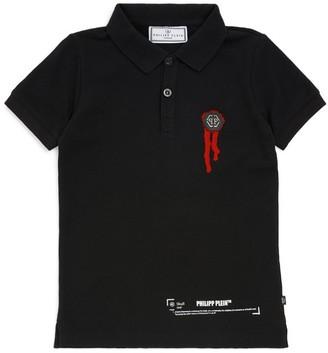 Philipp Plein Junior Skull-Back Polo Shirt (4-16 Years)