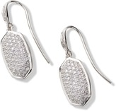 Kendra Scott Lee Earrings in Pave Diamond and 14k White Gold