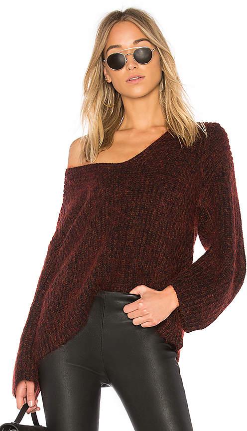 Alexander Wang Marl V Neck Sweater