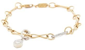 Azlee - Diamond & 18kt Gold Charm Bracelet - Yellow Gold