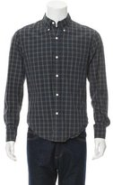 Band Of Outsiders Windowpane Button-Up Shirt