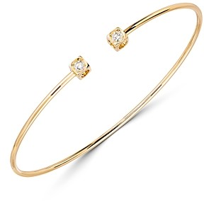 Dinh Van 18K Yellow Gold Le Cube Diamant Bangle Bracelet with Diamonds