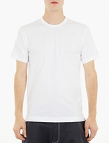 Comme Des Garcons Shirt White Cotton Long-line T-shirt