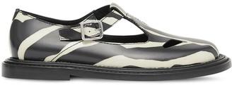 Burberry Zebra-print t-bar shoes