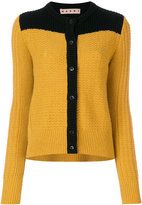 Marni bi-colour slouch cardigan - women - Polyamide/Alpaca/Virgin Wool - 42