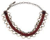 Ettika Braided Leather & Chain Link Choker