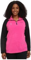 Columbia Plus Size Tested Tough in PinkTM Fleece Half Zip