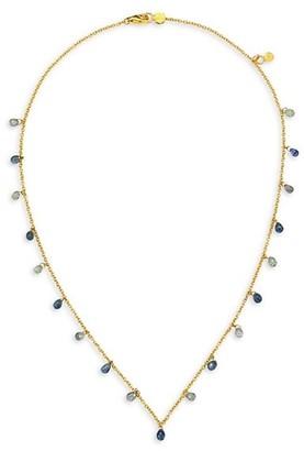 Gurhan 22K Gold & Blue Sapphire Necklace