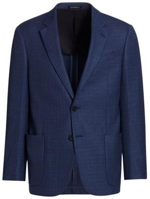 Emporio Armani Deco Wool Travel Jacket