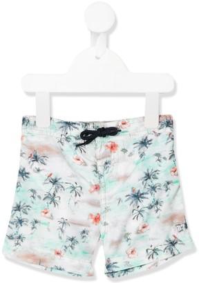 Bonpoint Palm Tree Print Swim Shorts