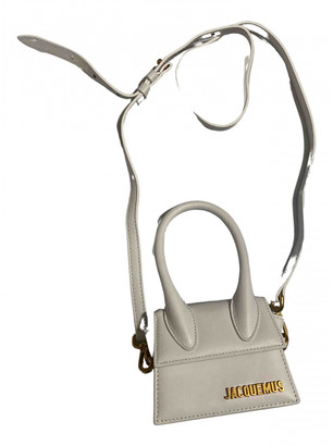 Jacquemus Chiquito White Leather Clutch bags