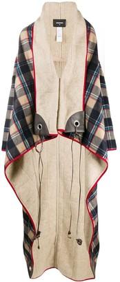 DSQUARED2 Oversize Plaid Coat