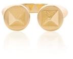 David Webb Hammered Gold Bastille Ring