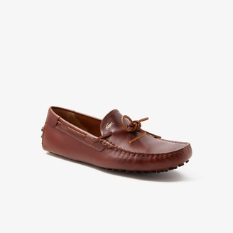 Lacoste Men's Concours Nautic Leather Driving Shoes