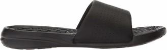 Under Armour Men's Playmaker Fixed Strap Slide Sandal Black (001)/White 10