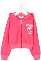 Moschino Kids zip front hoodie