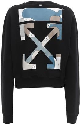 Off-White Cotton Sweatshirt W/ Back Color Palette