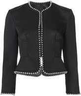 Alexander Wang studded trim jacket - women - Leather/Polyester/Viscose - 2