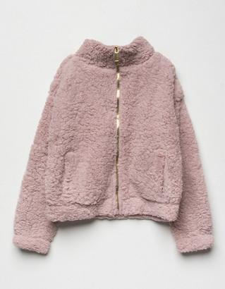 Love + Joy Sherpa Mauve Girls Jacket