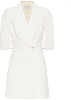 Alexander McQueen Wool and silk-blend crepe minidress