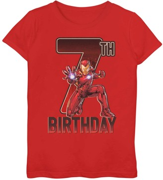 Iron Man Licensed Character Girls 7-16 Marvel 7th Birthday Tee