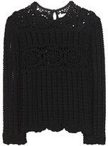 Etoile Isabel Marant Isabel Marant, Étoile Heloise crochet-knit linen and cotton top