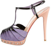 Christian Louboutin Spike T-Strap Sandals