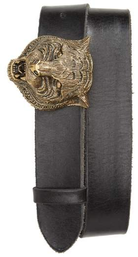 Gucci Tiger Head Leather Belt